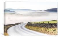 Peak District on a misty morning  - Wildboarclough, Canvas Print