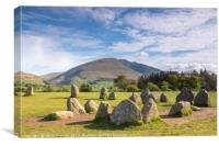 Castlerigg Stone Circle and Blencathra, Canvas Print