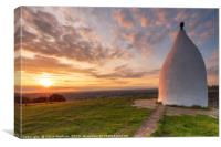 White Nancy sunset - Kerridge, Canvas Print