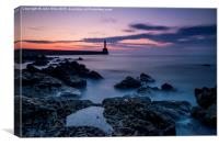 Aberdeen Harbour South wall, Canvas Print