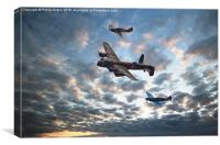 Battle of Britain Trio, Canvas Print