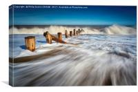 Spurn Point Ebb & Flow, Canvas Print