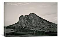 The lovers rock in Antequera, Canvas Print