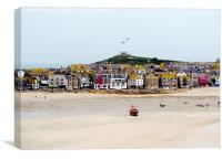 Harbour Beach St Ives, Cornwall., Canvas Print