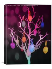 Easter egg tree, Canvas Print
