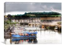 Hayle Harbour Cornwall, Canvas Print