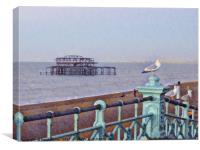 Brighton, west pier , Canvas Print