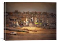 St Ives Harbour beach, Canvas Print