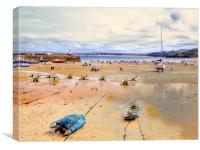 A Day at St Ives, Canvas Print