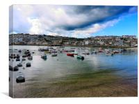 Heavy Skies In St Ives, Canvas Print