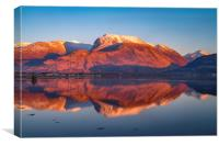 Ben Nevis from Corpach, Scotland. , Canvas Print