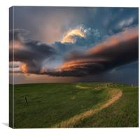 South Dakota thunderstorm magic, Canvas Print
