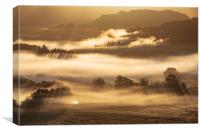 Little Langdale Autumn sunrise, Lake District, Canvas Print