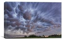 Mammatus clouds over Montana , Canvas Print