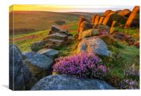Peak District Purple Sunrise, Canvas Print