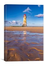 The Point of Ayr Lighthouse, North Wales , Canvas Print