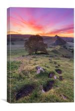 Footsteps at Dawn, Derbyshire Peak District., Canvas Print