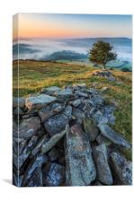 Winhill and Bamford sunrise , Canvas Print