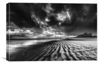 Bamburgh Winter Mood, Canvas Print