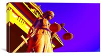 Lady Justice in court, Canvas Print