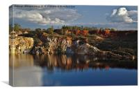 Reflections on the water pit. Mine of Sao Domingos, Canvas Print