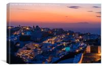 Santorini sunset, Canvas Print