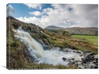 Falls on the Allt na h-Annaite, Canvas Print