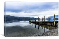 Jetty at Derwent Water in the Lake District, Canvas Print