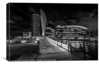 Salford Quays Monochrome , Canvas Print