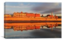 Grand Metropole Hotel Blackpool Reflection , Canvas Print