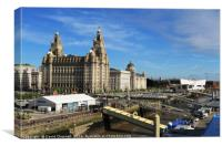 Liverpool Pier Head , Canvas Print
