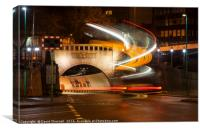 Mersey Tunnel Light Trails, Canvas Print