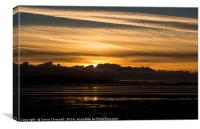 Moody North Wales Coast Sunset, Canvas Print