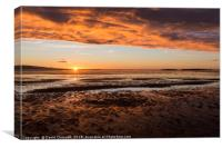 West Kirby Sunset , Canvas Print