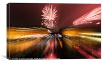 River Of Light Fireworks Abstract , Canvas Print