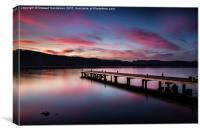 Sunset over Windermere from Millerground Landing, Canvas Print