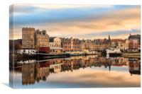 Autumn Colours, the Shore in Leith, Canvas Print