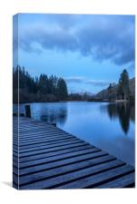 The Blue Hour, Loch Ard, Canvas Print