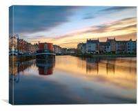 Colourful sunset over Leith, Canvas Print
