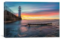 Sunset over Newhaven Lighthouse, Canvas Print