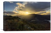 Sunset from the summit of Ben A'an, Canvas Print