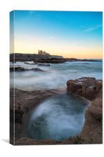 Tantallon Castle at Sunset from Seacliffe Beach, Canvas Print
