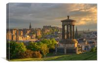 Edinburgh at Sunset from Calton Hill, Canvas Print