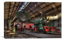 Tanfield Engine Shed, Canvas Print