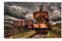 No 6 at Tanfield Railway, Canvas Print