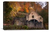 Jesmond Dene Water Mill, Canvas Print
