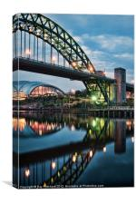 Tyne Bridge and The Sage at Newcastle, Canvas Print