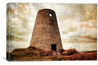 Old Mill on Cleadon Hills, Canvas Print