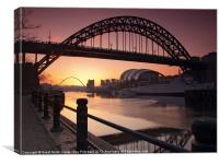 Tyne Bridge At Sunrise, Canvas Print
