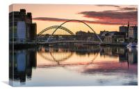 River Tyne At Newcastle, Canvas Print